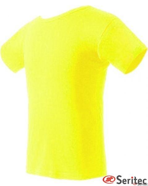 Camiseta hombre manga corta en varios colores fluor personalizable