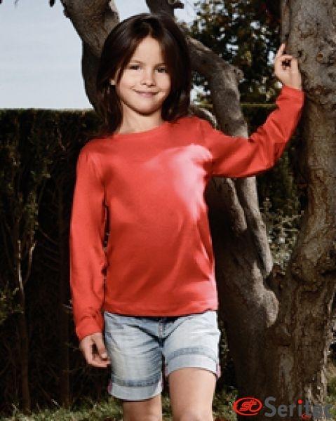 Camiseta infantil manga larga personalizable