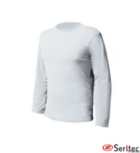 Camiseta hombre manga larga en blaco personalizable