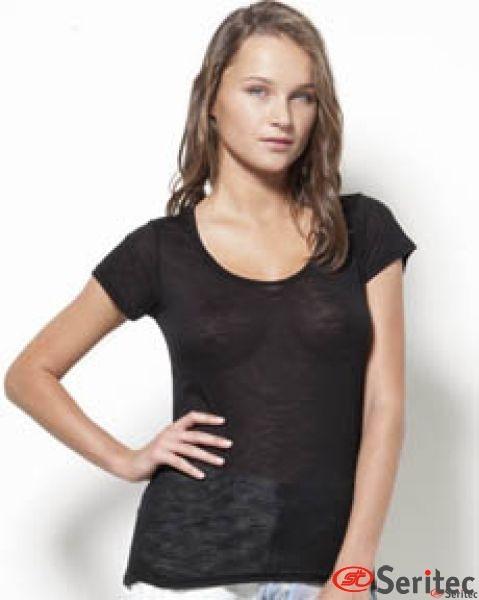 Camiseta mujer extrasuave manga corta personalizable