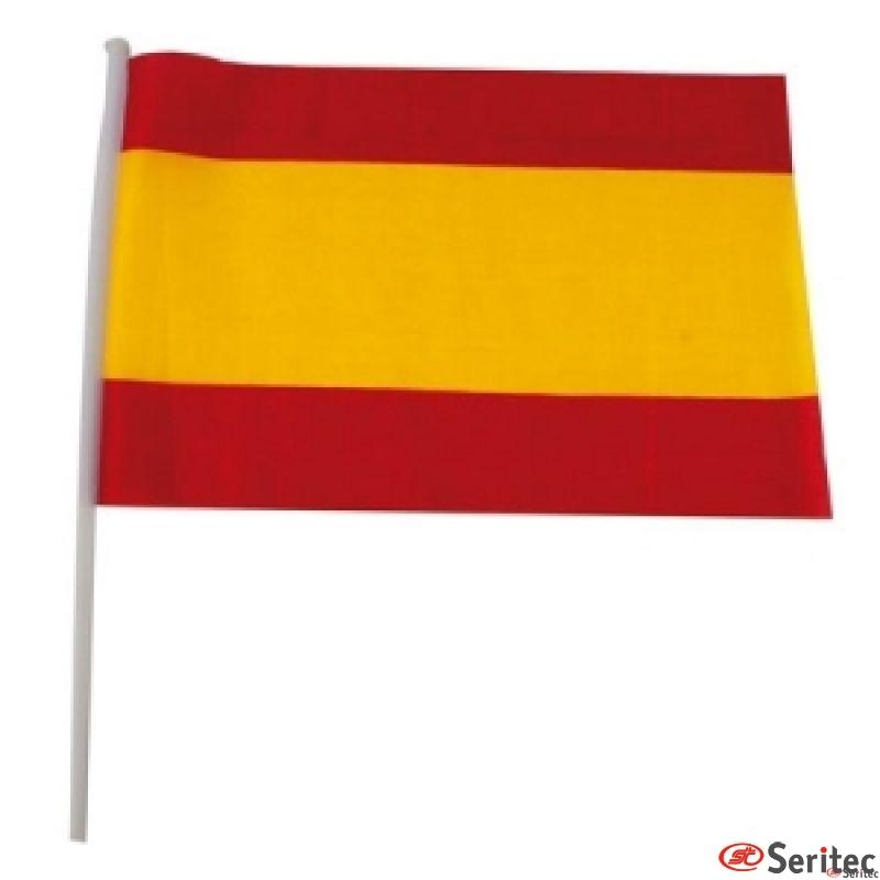 Banderín con bandera España o colores lisos impreso con logotipo
