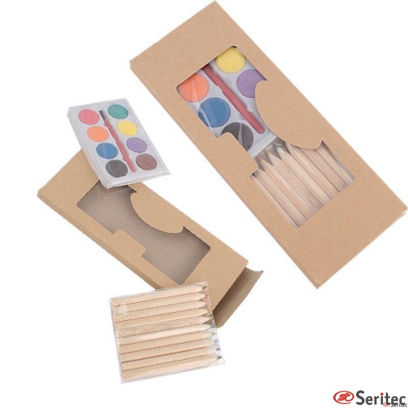 Set 10 Lapices Color + Acuarelas