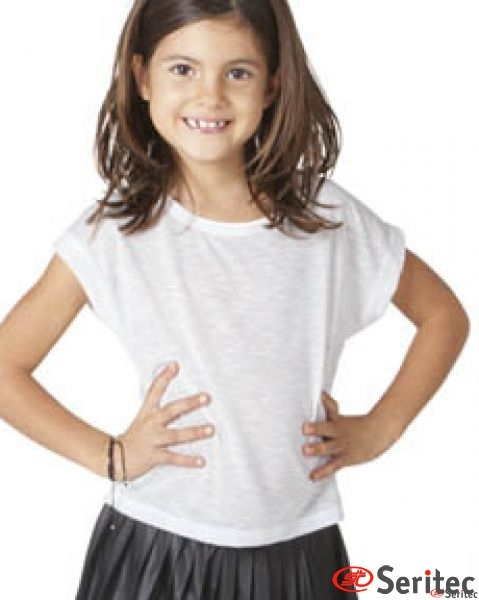 Camiseta niña manga corta personalizable