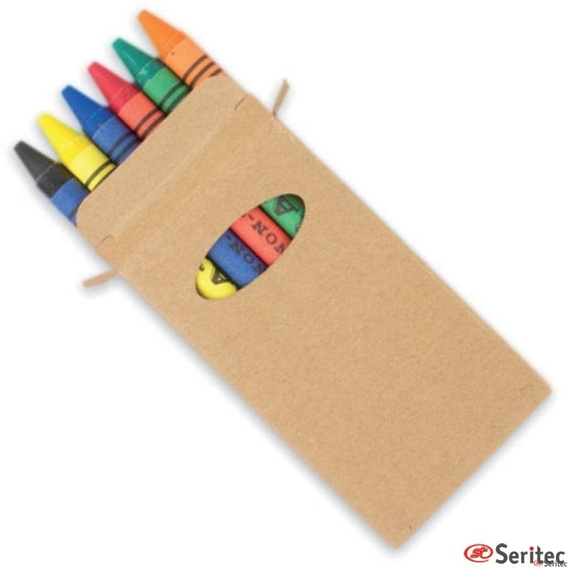 Cajita Ceras 6 Colores