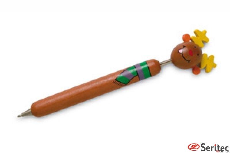 Bolígrafo de madera navideño