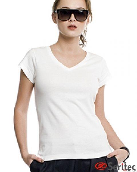Camiseta mujer manga corta personalizable