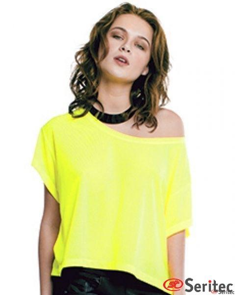 Camiseta mujer manga corta y cuello barco personalizable