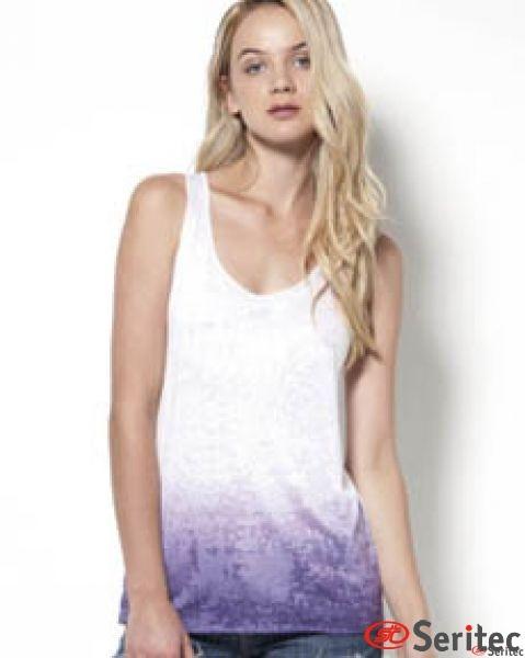 Camiseta mujer tirantes personalizable por sublimación