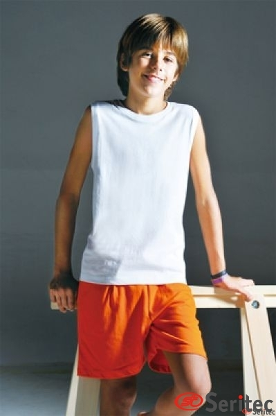 Camiseta infantil sin mangas personalizable