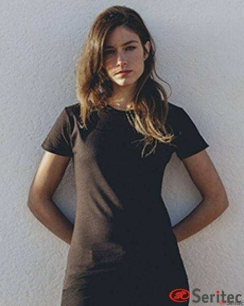 Camiseta básica mujer manga corta varios colores personalizable