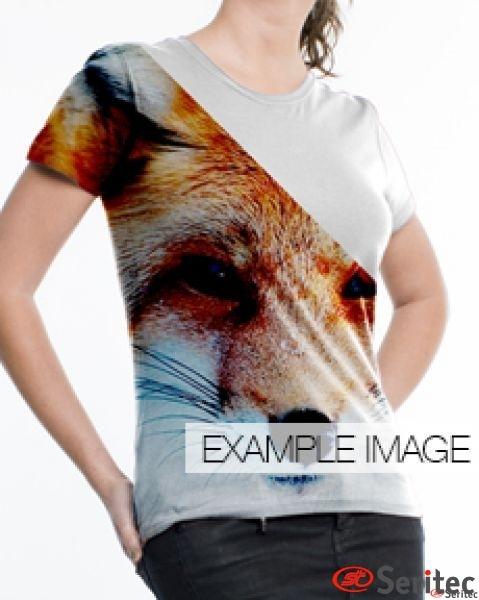 Camiseta básica mujer manga corta personalizable por sublimación