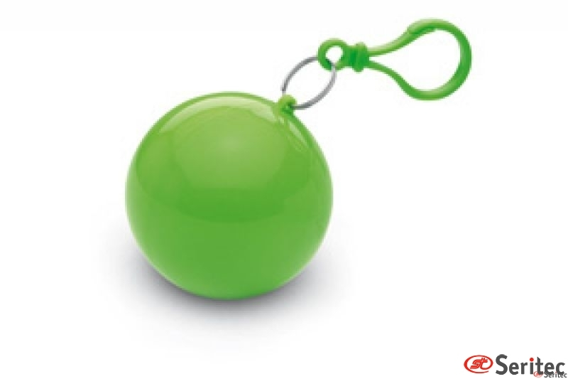 Poncho lluvia caja bola