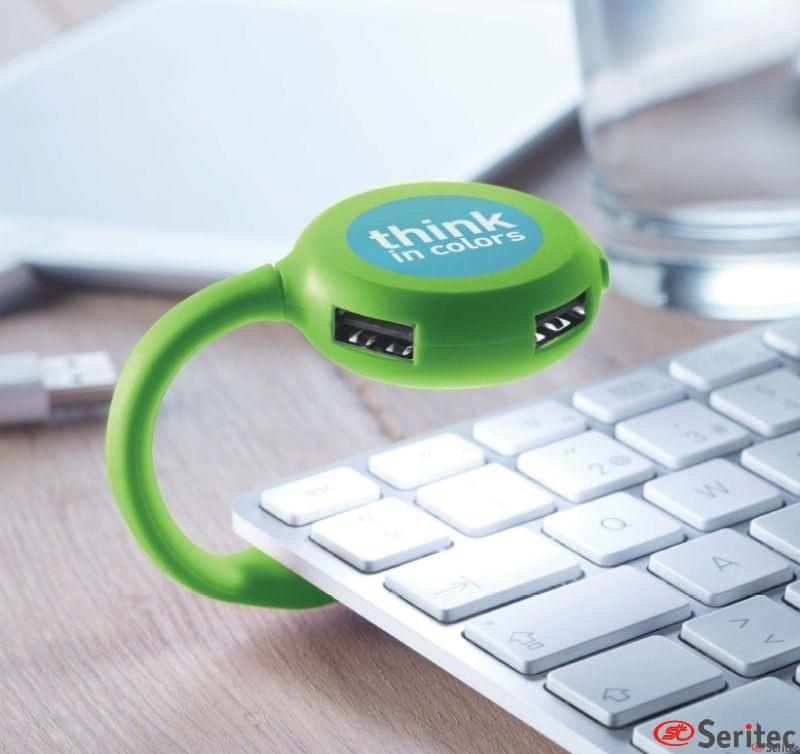 Hub USB 4 puertos personalizados