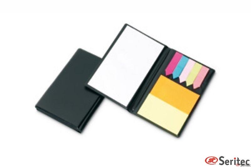Notas adhesivas y libreta