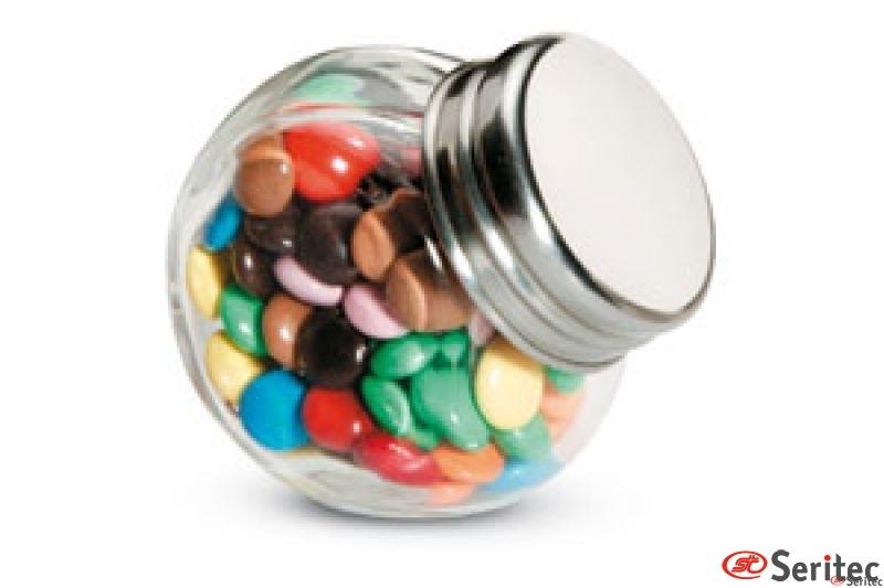 Chocolates en bote de cristal