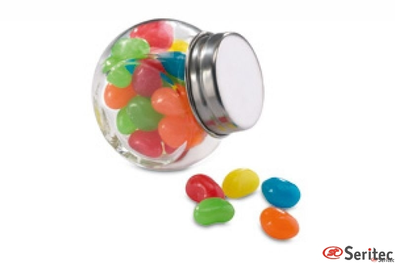 Bote de cristal con caramelos