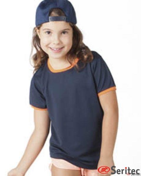 Camiseta técnica manga corta niños con tecnología quick dry personalizable