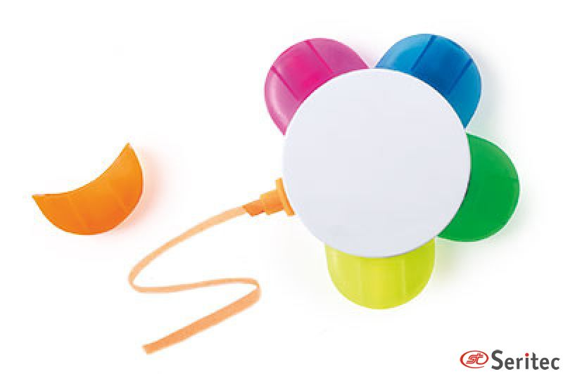 marcador fluorescente publicitario 5 colores