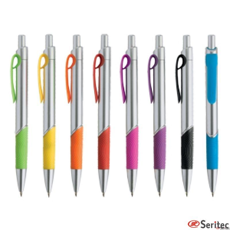 Boligrafos corporativos de compacto cuerpo cromado
