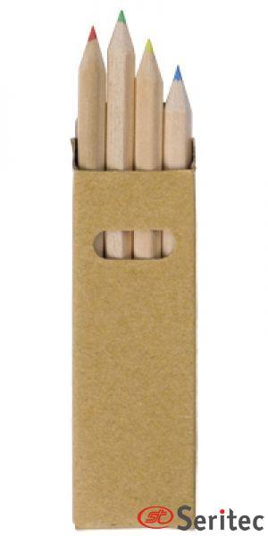 Caja de 4 lápices publicitaria