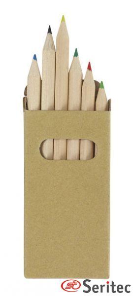 Caja de lápices publicitaria