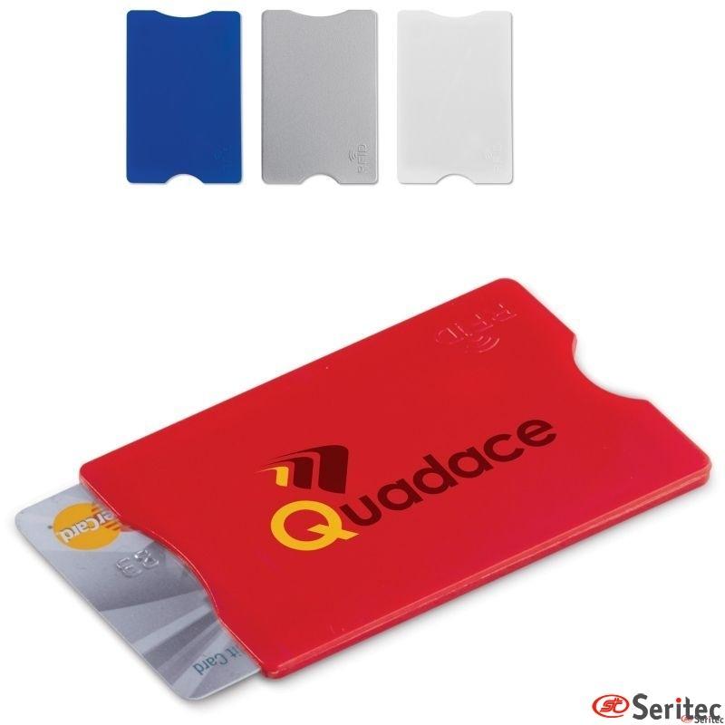 Tarjetero publicitario rígido protección RFID