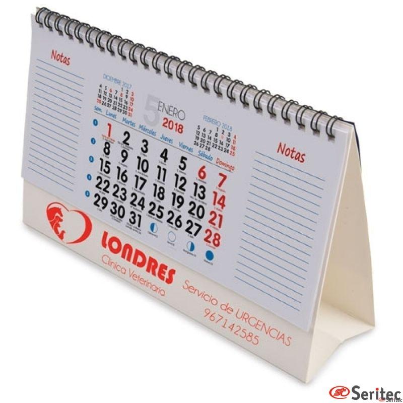 Calendario Sobremesa 22x14 cm. Publicitario