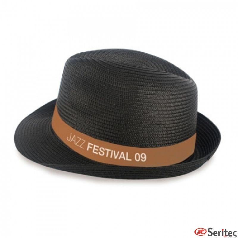 Sombrero sintético tipo paja alta calidad y diseño.Personalizado