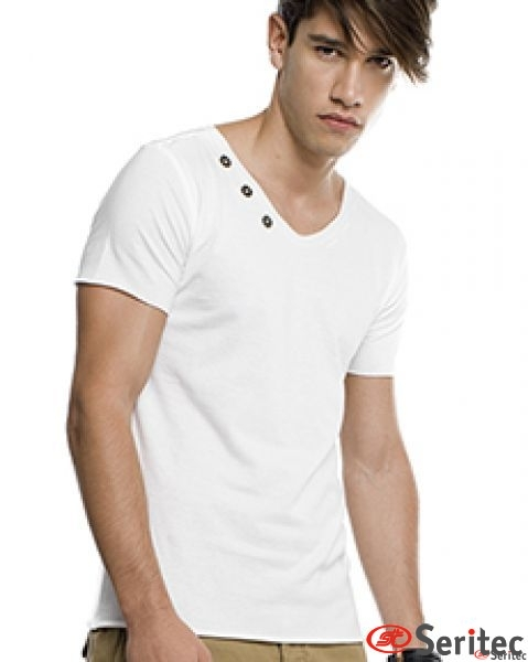 Camiseta hombre manga corta personalizable