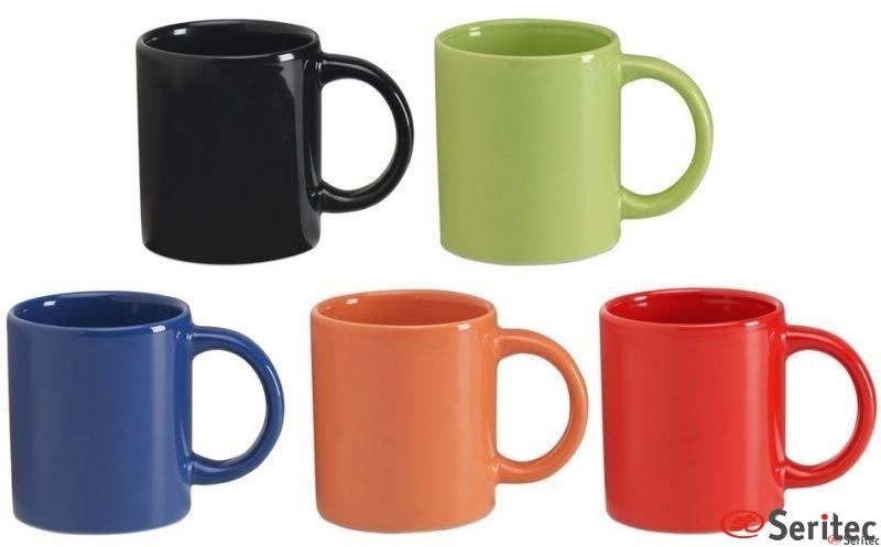 Taza de cerámica personalizada color
