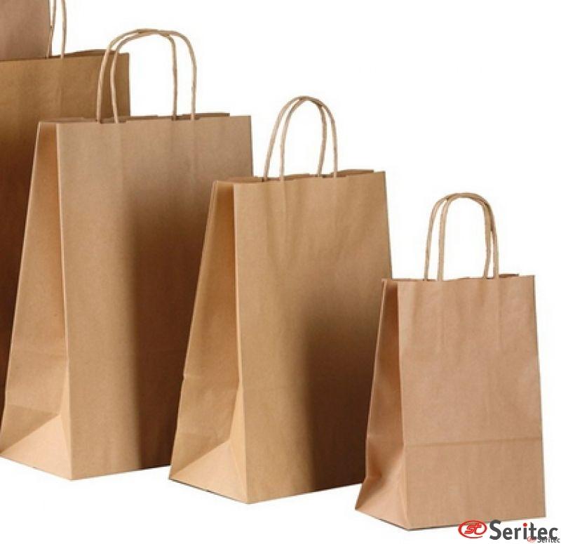 Bolsas de papel kraft personalizadas baratas. 45cb24cdf2e