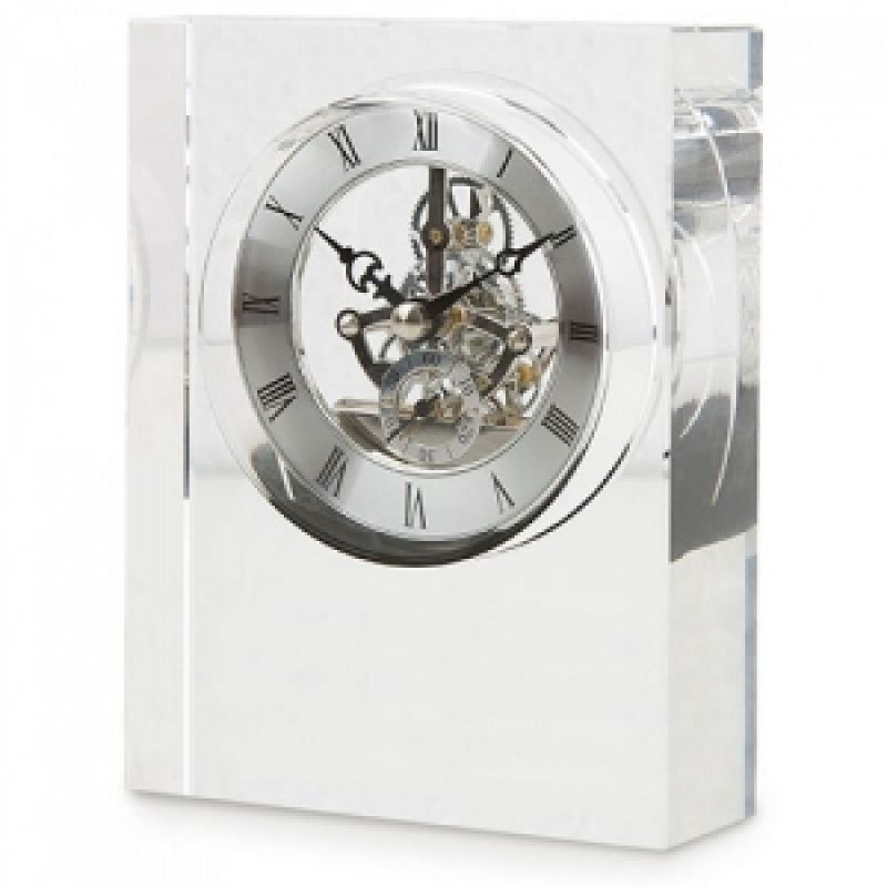 Reloj sobremesa de cristal para personalizar