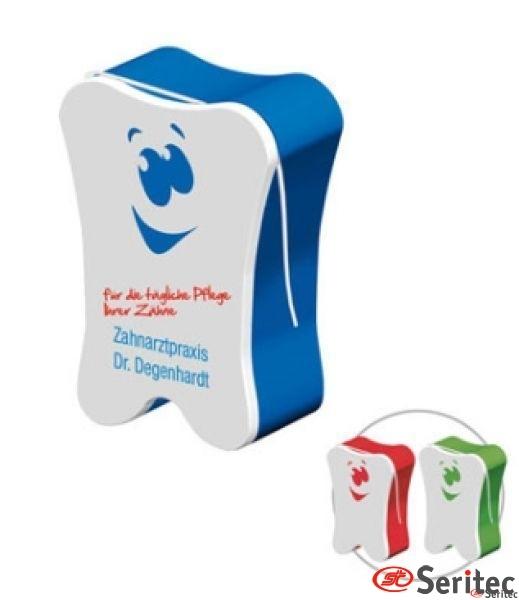 Hilo seda dental con envase personalizado con logo