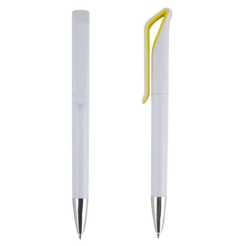 Bolígrafo blanco con clip original color
