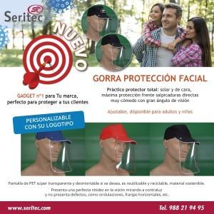 Gorra con Pantalla Facial Antisalpicaduras