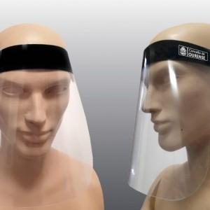 Pantallas faciales protección trabajadores